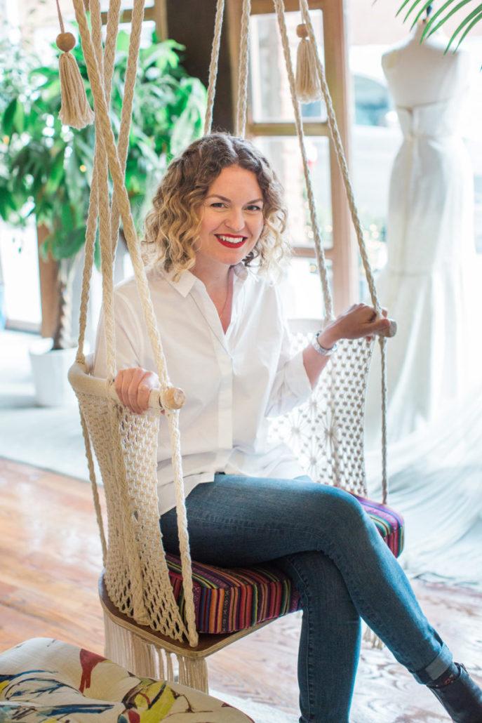 Rebecca Schoneveld - Designer & Owner of Schone Bride - Diane Hu Photography