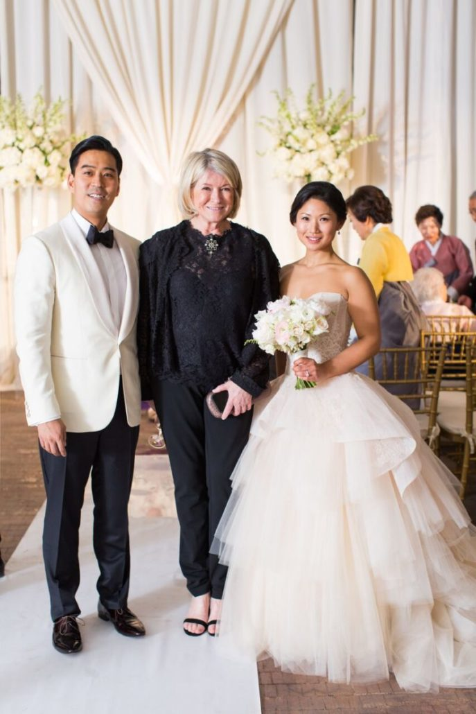 Jean Bryan Wedding - Bride Groom Martha Stewart - Bronx Post Office by Karen Wise