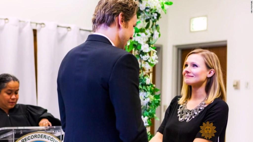 Kristen Bell & Dax Shepard Wedding - via cnn.com