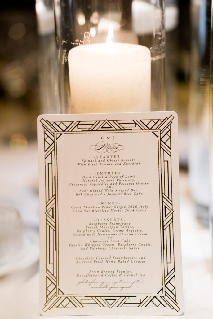 Claire & James Wedding - Menu - Capitale - by Susan Shek