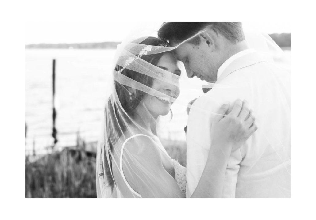Kristen & Joe Wedding - Bride Groom - Trumpets at the Gate by Kim Mancuso