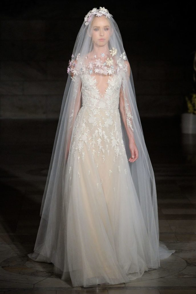 Reem Acra - Wedding Dress - Fall Bridal Collection 2019 - via vogue.com