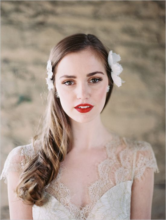 Classic Red Lip - via brideanddiamonds.com