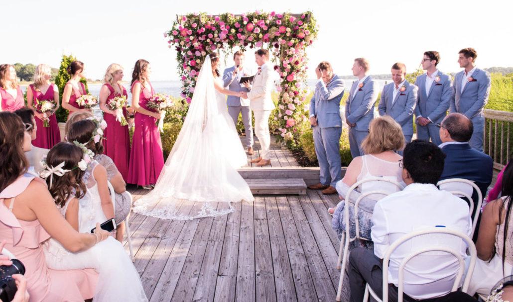 Kristen & Joe Wedding - Wedding Ceremony - Trumpets at the Gate - by Kim Mancuso