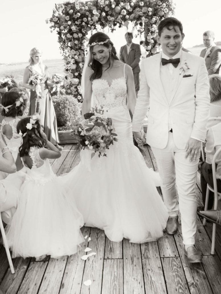 Kristen & Joe Wedding - Bride and Groom - Trumpets at the Gate - by Kim Mancuso