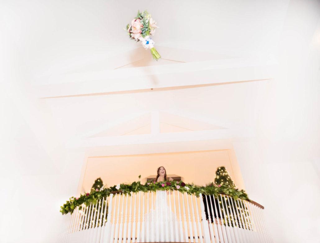 Kristen & Joe Wedding - Bride - Trumpets at the Gate - by Kim Mancuso