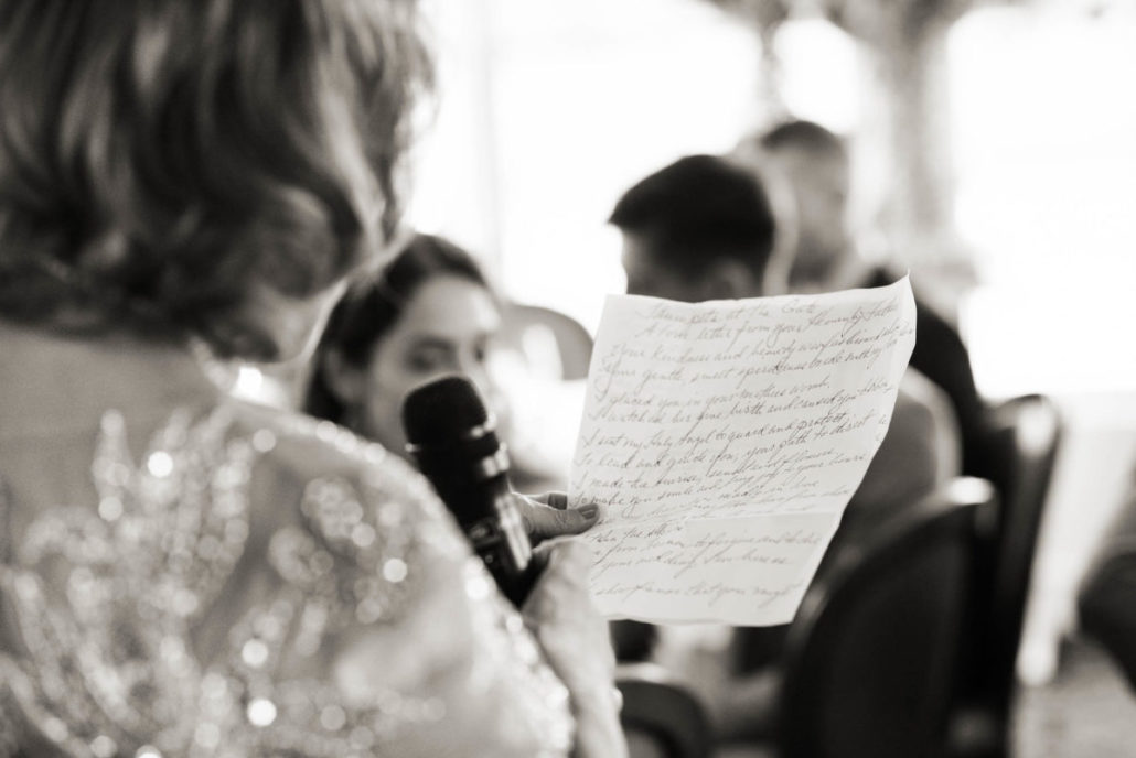 Kristen & Joe Wedding - Speech - Trumpets at the Gate - by Kim Mancuso