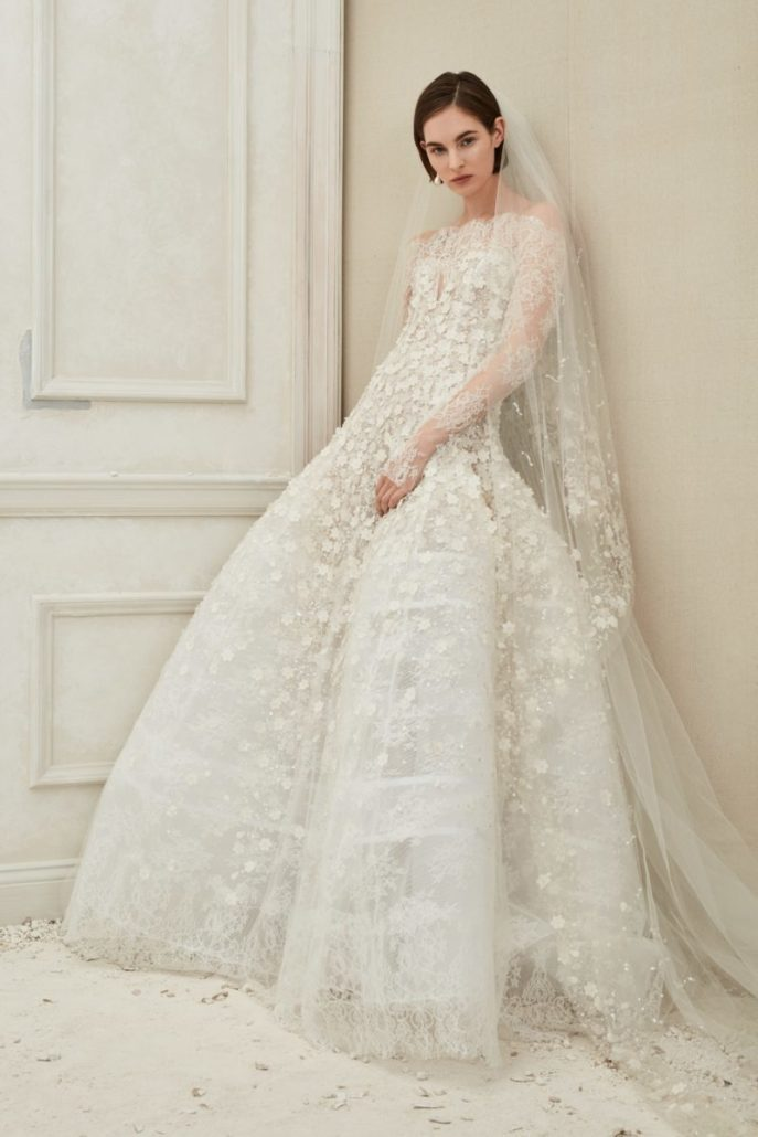 Long Sleeve Wedding Dress - Oscar de la Renta - via vogue.com