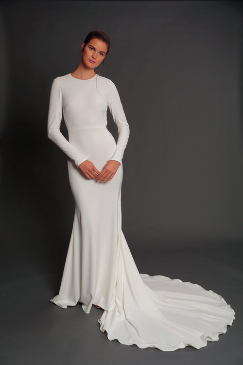 Long Sleeve Wedding Dress - Isabelle Armstrong - via isabellearmstrongny.com