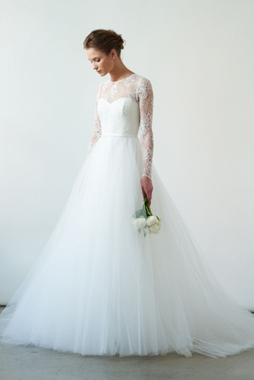Long Sleeve Wedding Dress - Amsale - via amsale.com