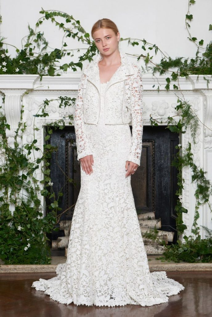 Lace Moto Jacket - Monique Lhuillier - via vogue.com