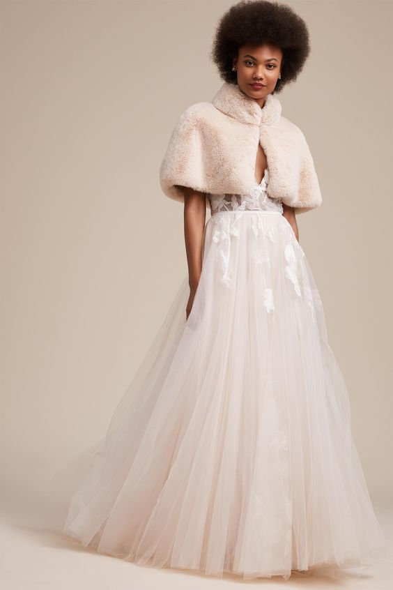 Faux Fur Cape - via BHLDN.com