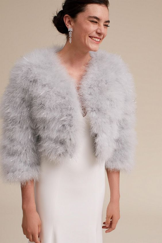 Feather Shrug - via BHLDN