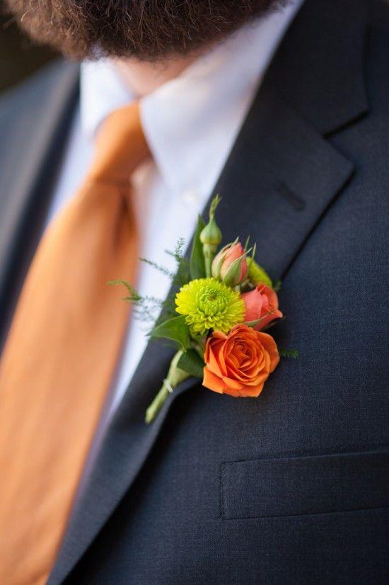 chrysanthemum rose boutonniere - via untitedbylove.com