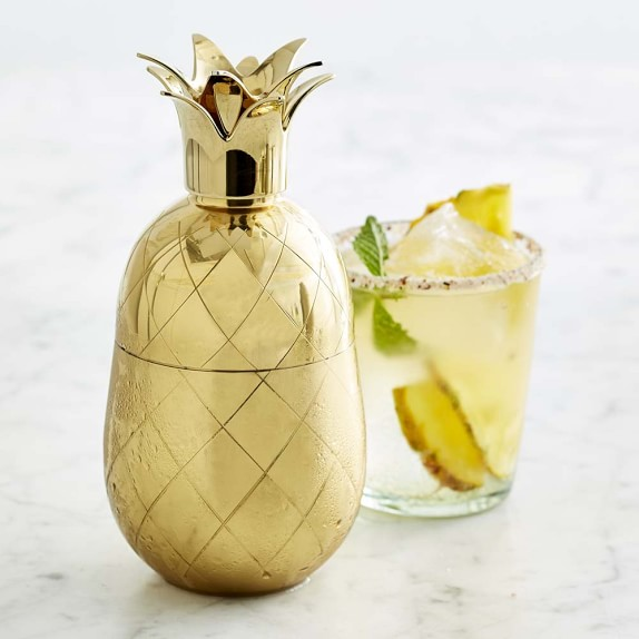 Gold Pineapple Cocktail Shaker - via williams-sonoma.com