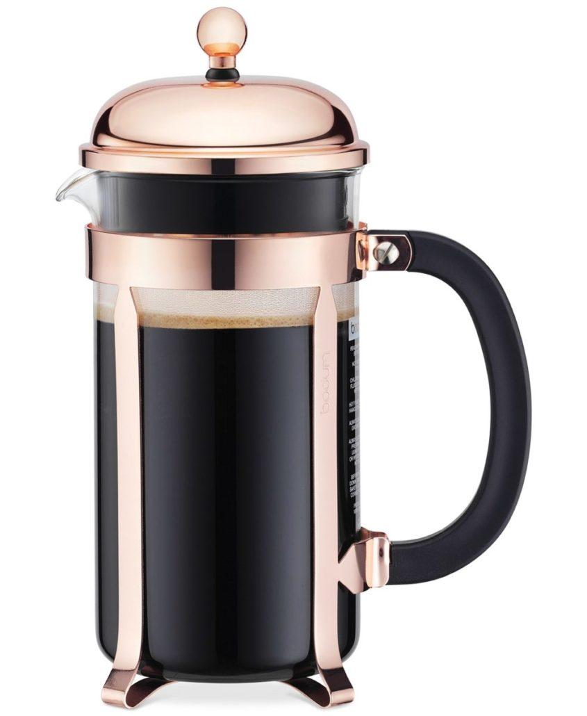 Bodum Classic Chambord Copper 8 Cup French Press - via macys.com