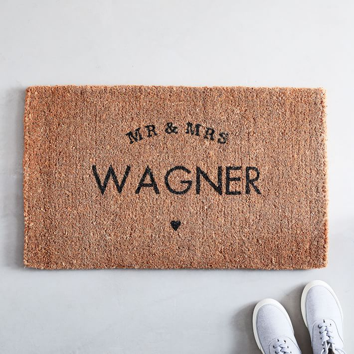 Mr & Mrs Doormat - via westelm.com