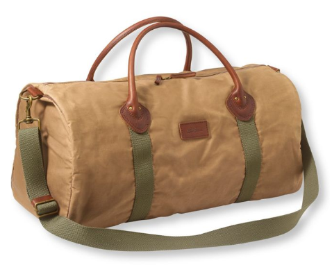 Heritage Waxed Canvas Duffle - via llbean.com