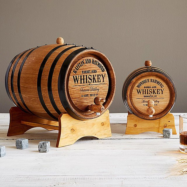 Personalized Whiskey Barrel - via uncommongoods.com