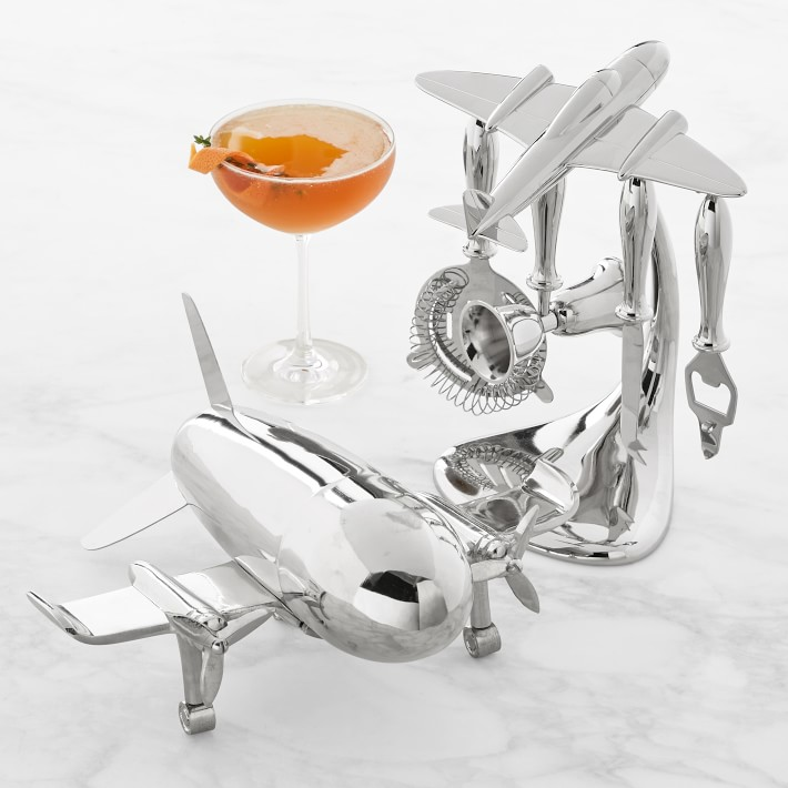 Airplane Bar Tools Set - via williams-sonoma.com Airplane Bar Tools Set - via williams-sonoma.com