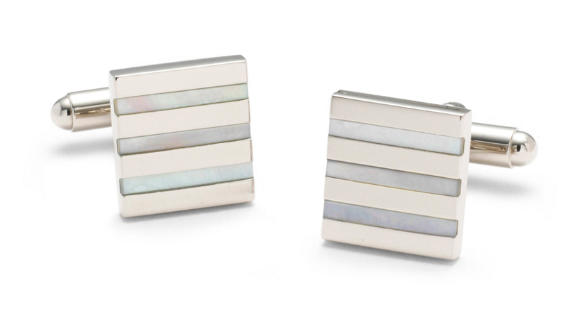 Mother of Pearl Cufflinks - via brooksbrothers.com