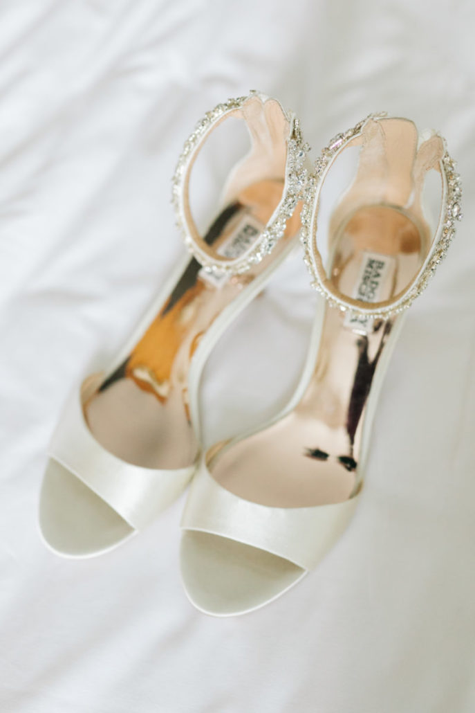 Lorenza & Pete Wedding - Shoes by Badgley Mischka - New York Botanical Garden - by The Hons