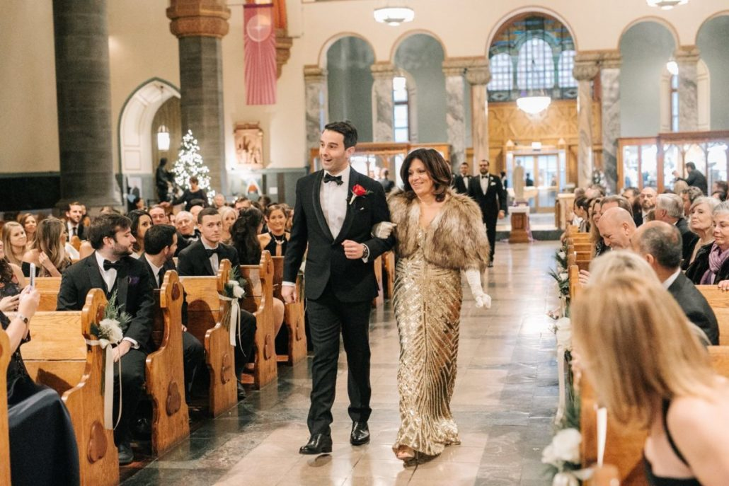 Lorenza & Pete Wedding - Groom and Mother - Church of St. Paul the Apostle - by the Hons