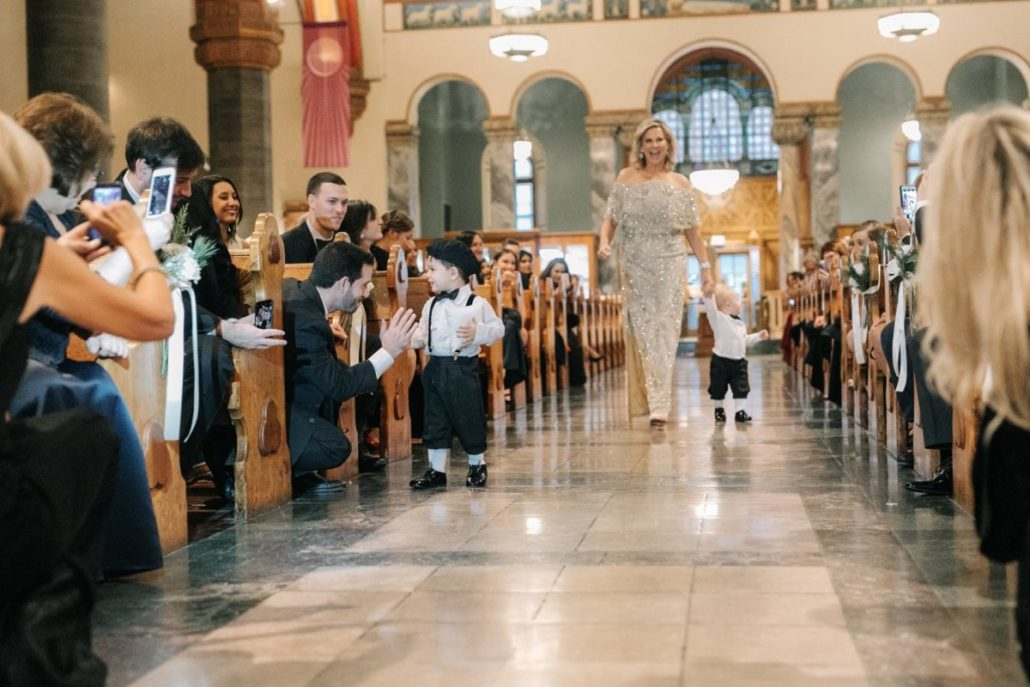 Lorenza & Pete Wedding - Bride's Mother and Ring bearers - Church of St. Paul the Apostle - by the Hons