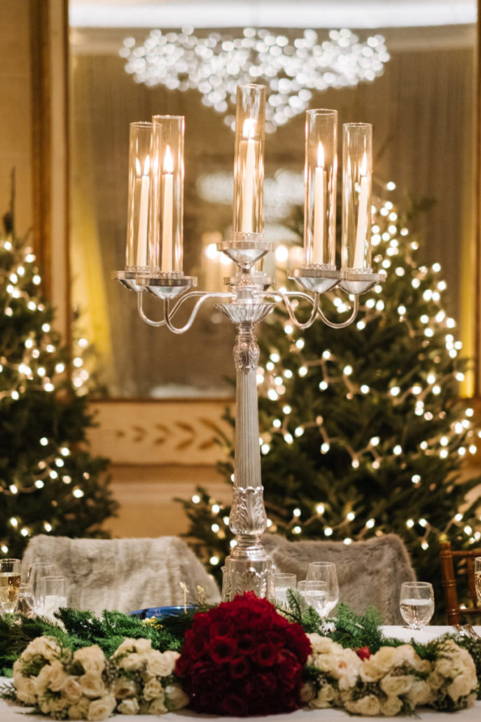 Lorenza & Pete Wedding - Candelabra - Centerpiece - NYBG - by the Hons