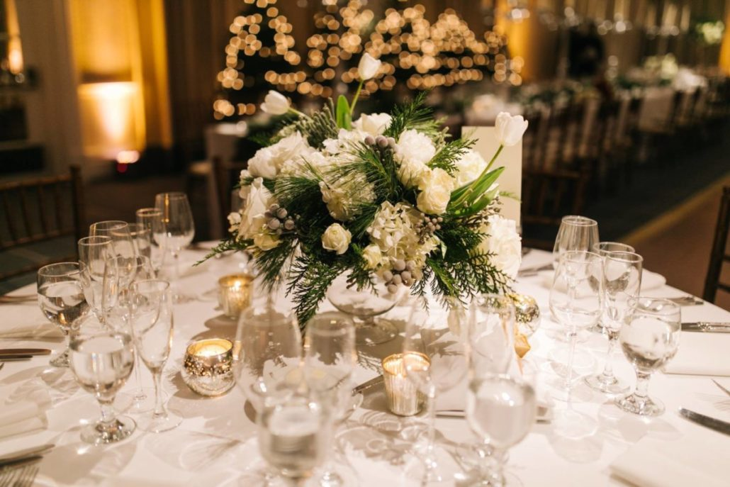 Lorenza & Pete Wedding - Low Centerpiece - NYC - by the Hons