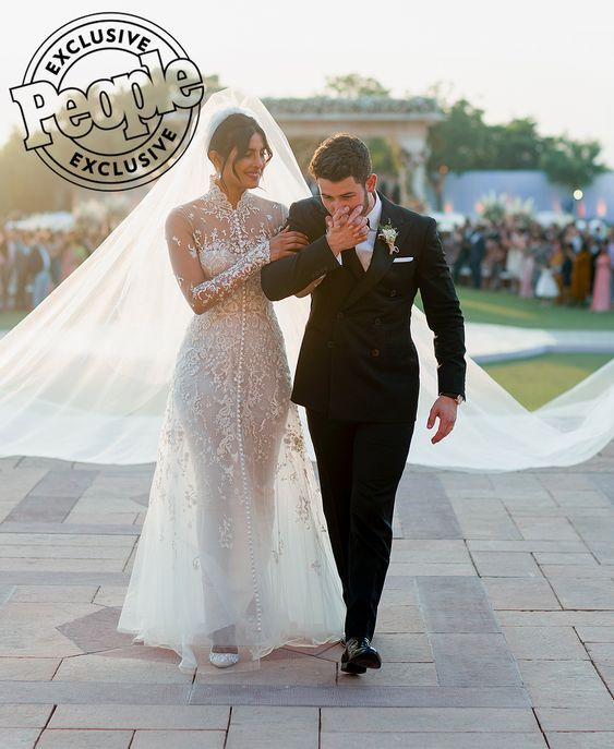 Priyanka Chopra & Nick Jonas Wedding - Ralph Lauren Gown - via people.com