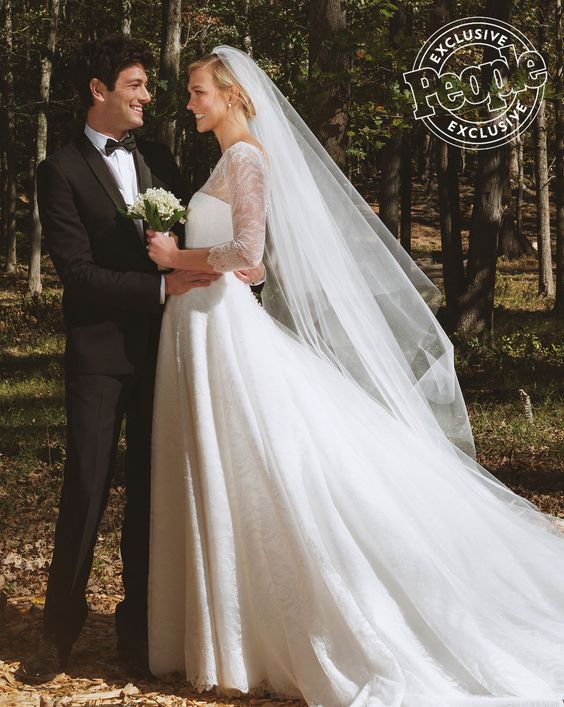 Karlie Kloss & Joshua Kushner Wedding - Dior Wedding Dress - via people.com