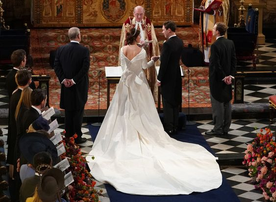 Princess Eugenie & Jack Brooksbanks Wedding - via townandcountrymag.com