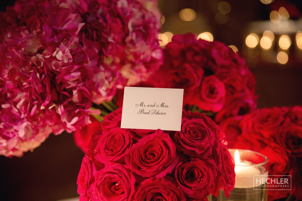 Hilary & Brad Wedding - Card Table Detail - Plaza Hotel - Hechler Photographers