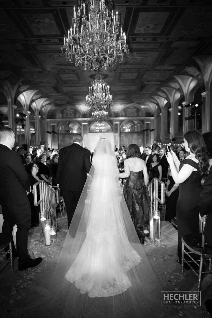 Hilary & Brad Wedding - Bride - Ceremony - Plaza Hotel - Hechler Photographers