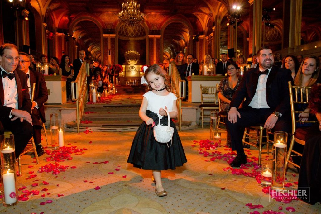 Hilary & Brad Wedding - Flower Girl - Ceremony - Plaza Hotel - Hechler Photographers