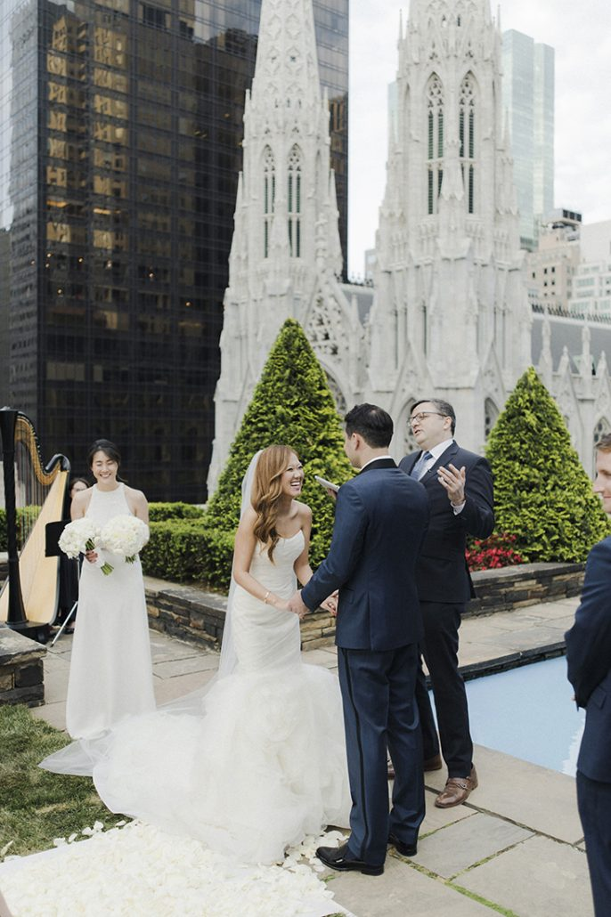 Alice & Chris Wedding - 620 Loft and Garden NYC - Bride Groom Ceremony - Photography by Samm Blake