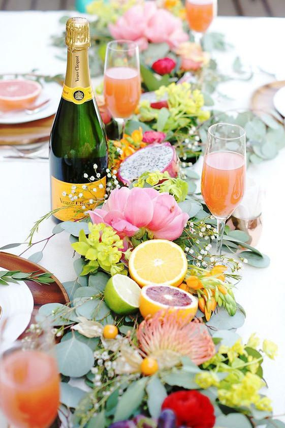 Citrus Fruit Wedding Table Decor - via southernliving.com