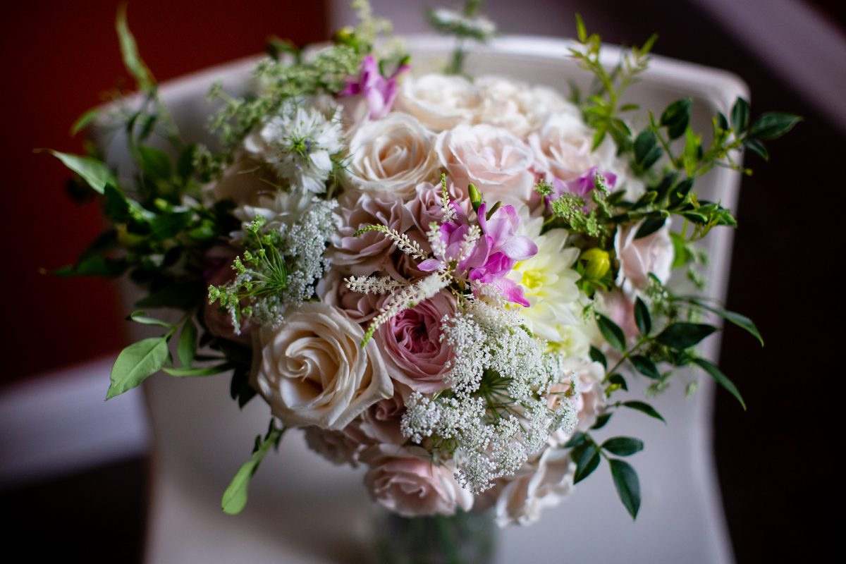Sara & Mitch Wedding - Brides Bouquet - The Foundry - Craig Paulson Studio