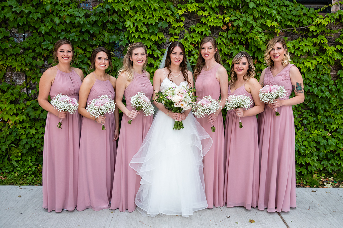 Sara & Mitch Wedding - Bridal Party Bouquets - The Foundry - Craig Paulson Studio
