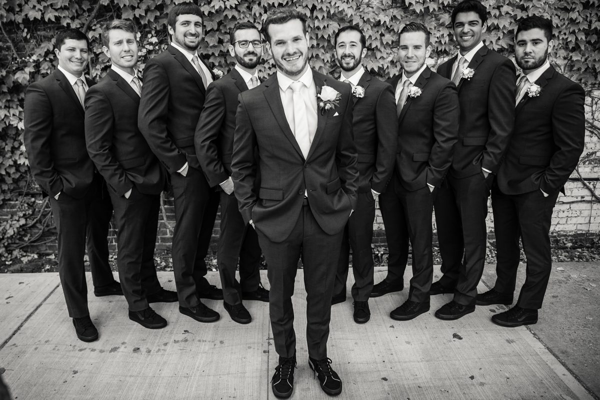 Sara & Mitch Wedding - Groom and Groomsmen - The Foundry - Craig Paulson Studio