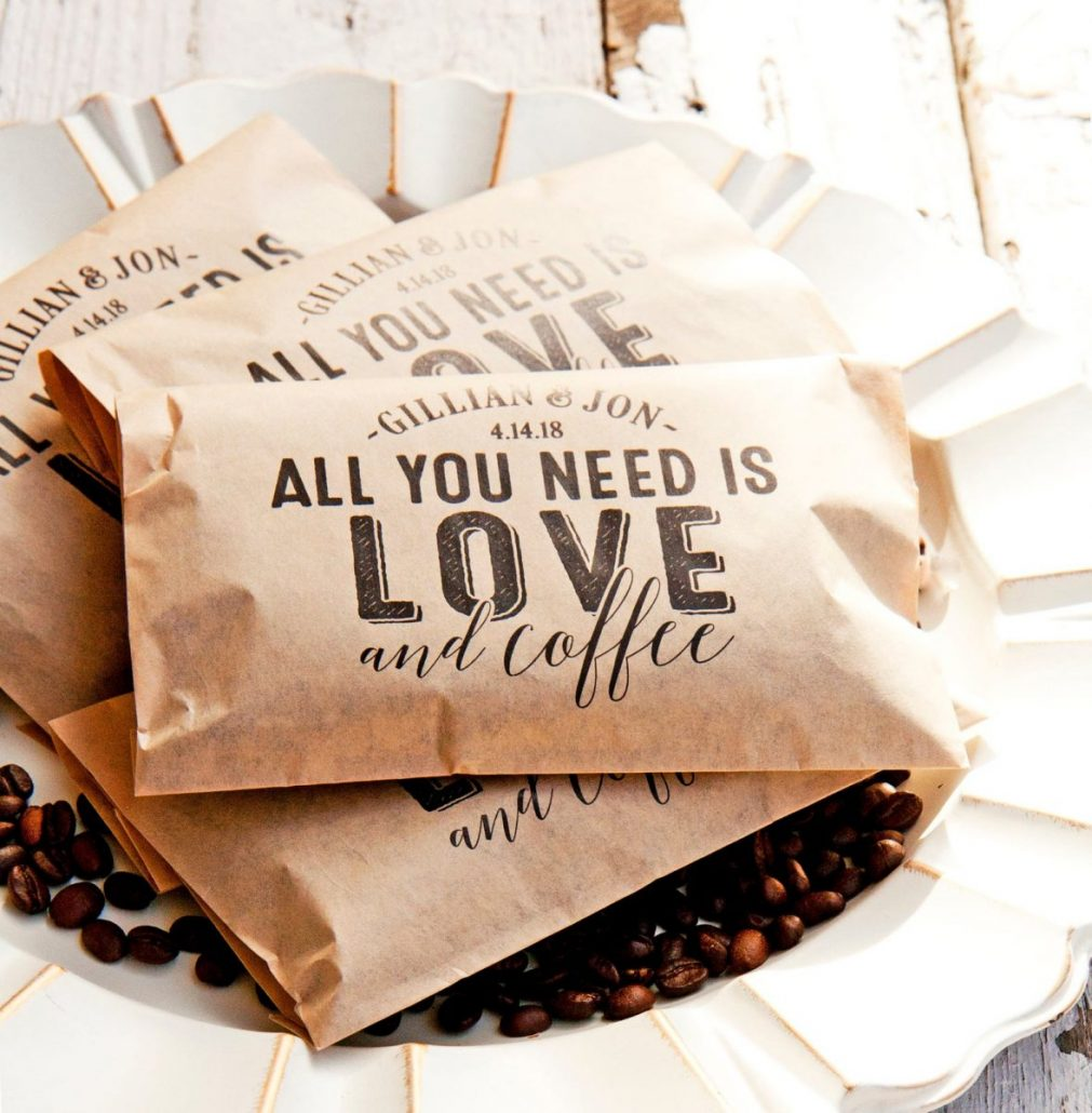 Personalized Wedding Coffee Favor From Mavora - via etsy.com
