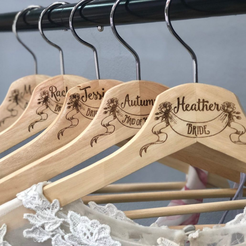 Personalized Wedding Hanger by Scissor Mill - via etsy.com
