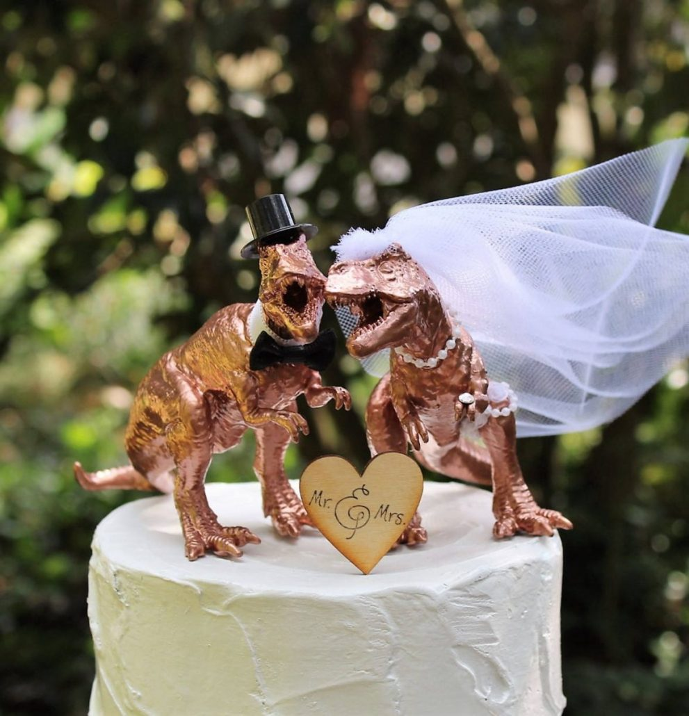 Dinosaur Cake Topper by Sugar Plum Cottage - via etsy.com