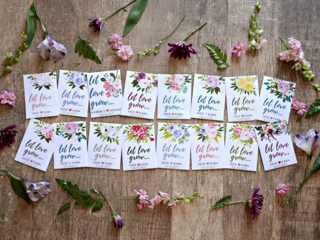 Personalized Flower Seed Wedding Favors from Plain Jane - via etsy.com