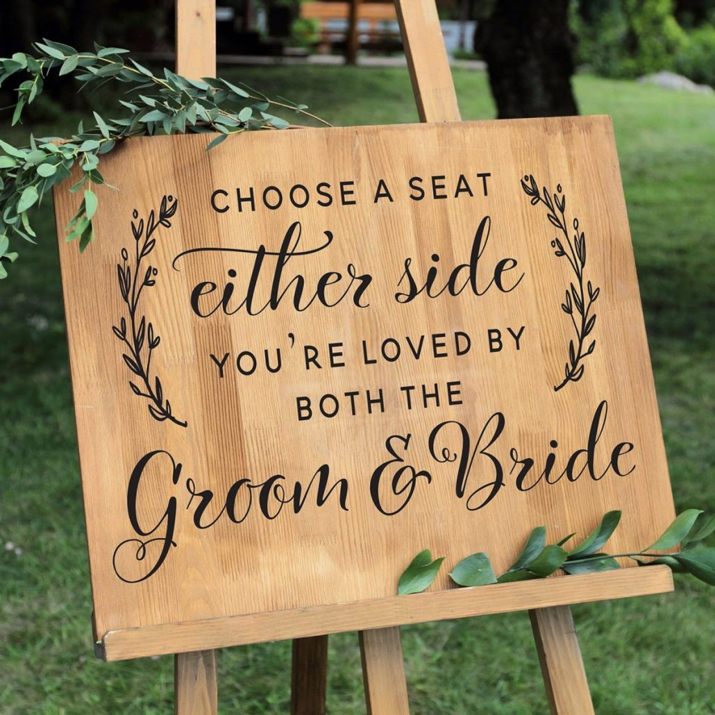 Pick A Seat Sign by Old Barn Rescue Company - via etsy.com