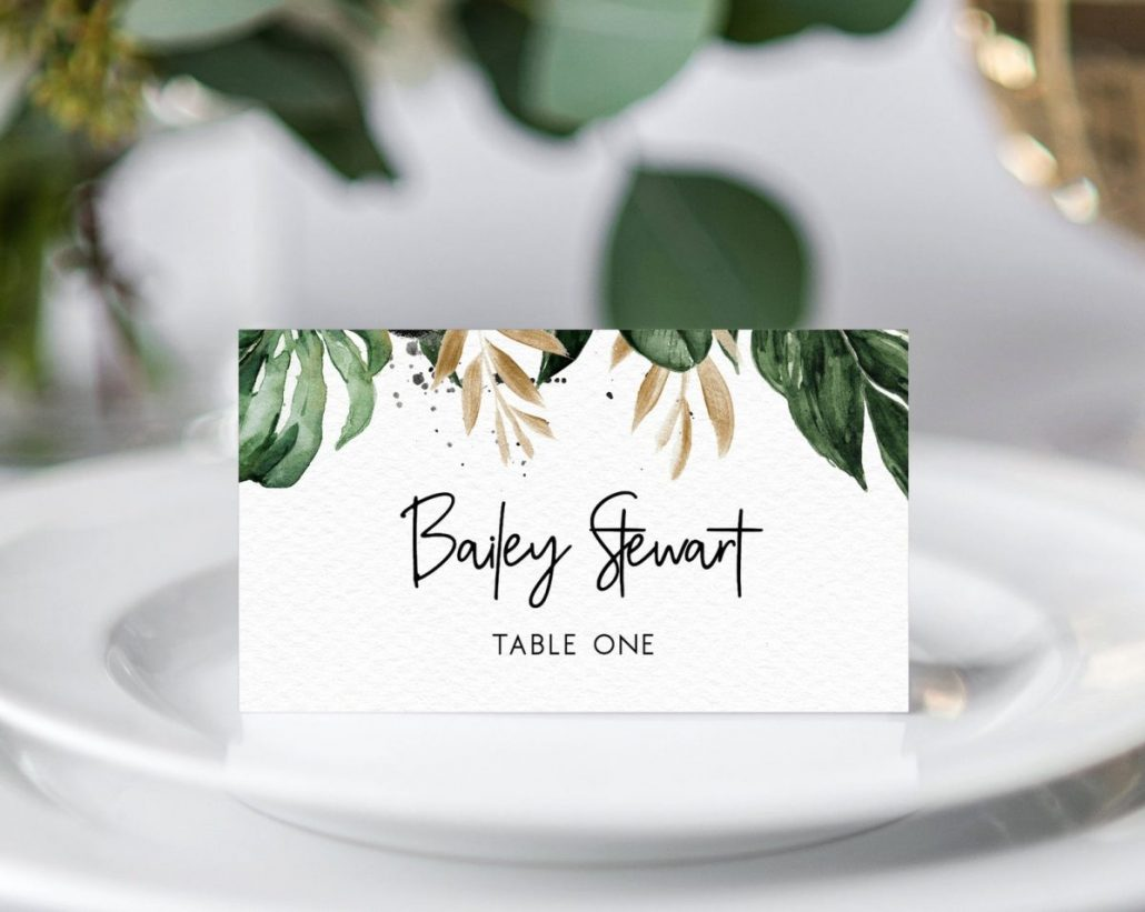 Wedding Guest Place Card from J & Y - via etsy.com