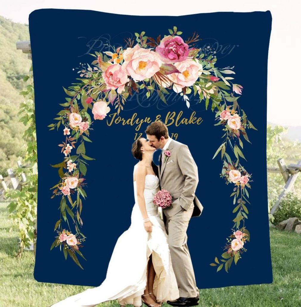Custom Wedding Backdrop by Pixel Romance - via etsy.com
