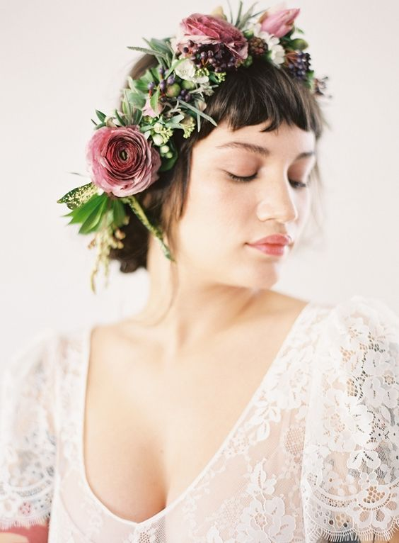 Bridal Flower Crown - via heyweddinglady.com