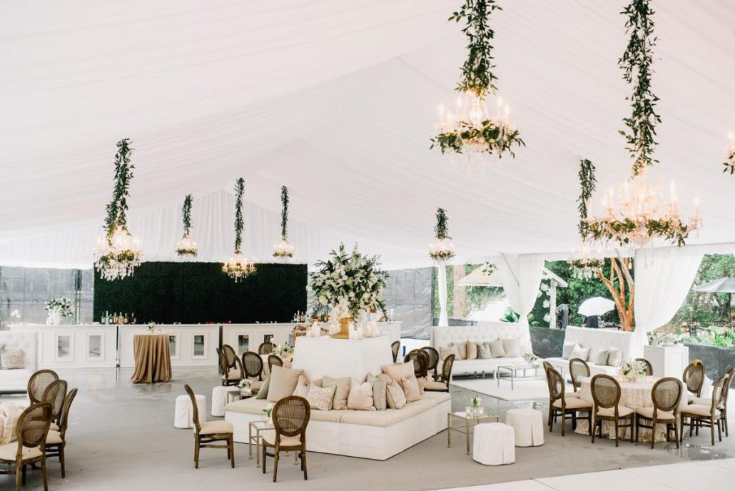 Tented Outdoor Reception Lounge Ideas - via acharlestonbride.com